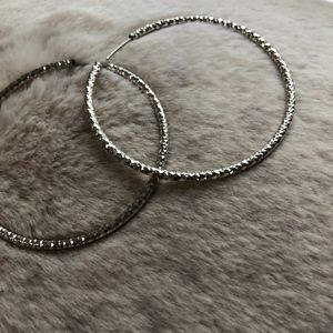 Jewelry - 🎀 Large Silver Hoops